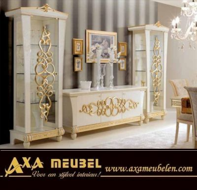 italienische luxus wohnzimmer goccia gold axa m bel angebote. Black Bedroom Furniture Sets. Home Design Ideas