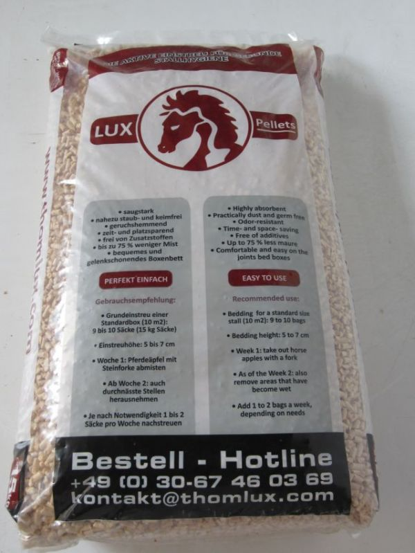 "Einstreupellets ""LUX-Pellets"" hell 6mm 15kg Sack ab 3,90 Euro"